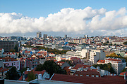 Lisbon, Portugal. Elevated view and cityscape