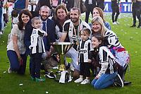 Gioriog Chiellini con la famiglia<br /> Esultanza Juventus Campione d'Italia . Celebration Juventus Italian championship winner <br /> Torino 21-05-2017 Juventus Stadium Football Calcio Serie A 2016/2017 Juventus - Crotone .<br /> Foto Insidefoto