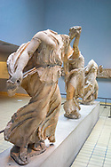 The Elgin Marbles from the Parthenon in The British Museum