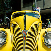 Old car in Sydney CBD During Australia Day.