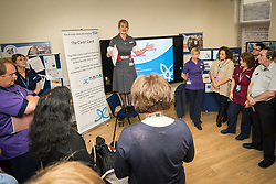 The Princess Alexandra Hospital, Harlow, Nursing & Midwifery Celebration Day - training and information, UK. Carer Card presentation - this allows carers of inpatients flexible visiting hours