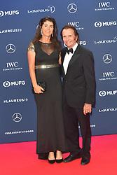 February 18, 2019 - Monaco, Monaco - Emerson Fittipaldi and Rossana Fanucchi arriving at the 2019 Laureus World Sports Awards on February 18, 2019 in Monaco  (Credit Image: © Famous/Ace Pictures via ZUMA Press)