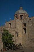 The Templo del Carmen and Convento del Carmen a structure of churches in the central highland city of Morelia, Michoacan state Mexico. The city is a UNESCO World Heritage Site and hosts on of the best preserved collection of Spanish Colonial architecture in the world. The complex was erected between 1593 and 1619 and by the Carmelite order.