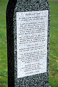 Marker engraved with the writings of Lewis and Clark at the Columbia River Gorge Interpretive Center, Stevenson, Columbia River Gorge National Scenic Area, Washington