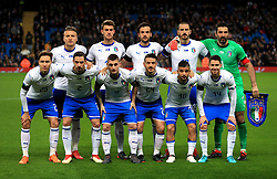 The Italy team pose for a photograph before kick-off