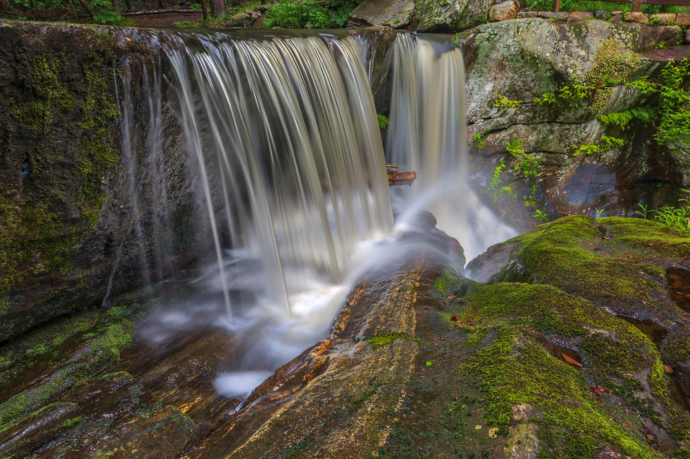 New England waterfall photography of one of the several beautiful Enders Falls in the towns of Granby and Barkhamsted, Connecticut. The waterfalls are located in the Enders State Forest, northwest of Hartford, CT.<br /> <br /> Visit Connecticut waterfalls photography artworks are available as museum quality photography prints, canvas prints, acrylic prints, wood prints or metal prints. Fine art prints may be framed and matted to the individual liking and interior design decorating needs.<br /> <br /> Good light and happy photo making!<br /> <br /> My best,<br /> <br /> Juergen