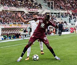 October 22, 2017 - Turin, Piemonte/Torino, Italy - Umar Sadiq (Torino FC) during the Serie A Mathc: Torino FC vs AS Roma at stadio Olimpico Grande Torino, in Turin 22th october 2017. Roma wins 0-1 (Credit Image: © Albertogandolfo/Pacific Press via ZUMA Wire)