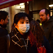 Wuhan masks become a Fashion in London, UK