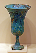 Cup in the shape of a lotus blossom 18 dynasty, 1540-1290 BC Faience.