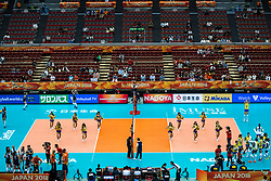 10-10-2018 JPN: World Championship Volleyball Women day 11, Nagoya<br /> Netherlands - Brazil 2-3 / Nippon Gaishi Hall and entertainment