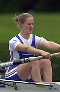 2002 FISA World Cup. Hazewinkel. BEL.       Friday  14/06/2002     .email images@Intersport-images.com.[Mandatory Credit: Peter Spurrier/Intersport Images]  .                                 /06/2002.Rowing    .W2X GBR  Rose Carslake Rowing, FISA WC.Hazenwinkel, BEL