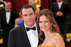 File photo - John Travolta and Kelly Preston arriving at the 80th Academy Awards, held at the Kodak Theater on Hollywood Boulevard in Los Angeles, CA, USA on February 24, 2008. Kelly Preston, the actress married to John Travolta, has died after a private battle with breast cancer, aged 57. The actress had been battling against breast cancer for two years, with a family representative confirming news of her passing to People today. Photo by Hahn-Nebinger/ABACAPRESS.COM