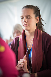"""16 May 2017, Windhoek, Namibia: Namibian Makalani nuts work as a source of prayer during the last morning worship of the Lutheran World Federation's Twelfth Assembly. The Twelfth Assembly of the Lutheran World Federation gathers in Windhoek, Namibia, on 10-16 May 2017, under the theme """"Liberated by God's Grace"""", bringing together some 800 delegates and participants from 145 member churches in 98 countries."""