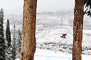 X Games snowboarder Red Gerard competes in the Men's Snowboard Slopestyle qualifying event during the 2020 X Games at Buttermilk in Aspen, Colorado.