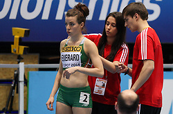 07.03.2014, Ergo Arena, Sopot, POL, IAAF, Leichtathletik Indoor WM, Sopot 2014, Tag 1, im Bild Ciara Everard (IRL) // Ciara Everard (IRL) during day one of IAAF World Indoor Championships Sopot 2014 at the Ergo Arena in Sopot, Poland on 2014/03/07. EXPA Pictures © 2014, PhotoCredit: EXPA/ Newspix/ Tomasz Jastrzebowski<br /> <br /> *****ATTENTION - for AUT, SLO, CRO, SRB, BIH, MAZ, TUR, SUI, SWE only*****