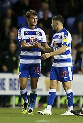 Reading's John Swift (left) celebrates scoring his side's second goal of the game
