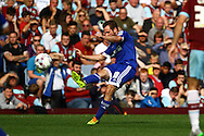 Alan Judge of Brentford tries a shot. Skybet football league championship match, Burnley  v Brentford at Turf Moor in Burnley, Lancs on Saturday 22nd August 2015.<br /> pic by Chris Stading, Andrew Orchard sports photography.