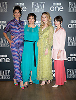 """Natasha O'Keeffe, Helen McCrory, Sophie Rundle and Charlene McKenna at the  the """"Peaky Blinders"""" BFI TV Preview at BFI Southbank on July 23, 2019  London, England"""
