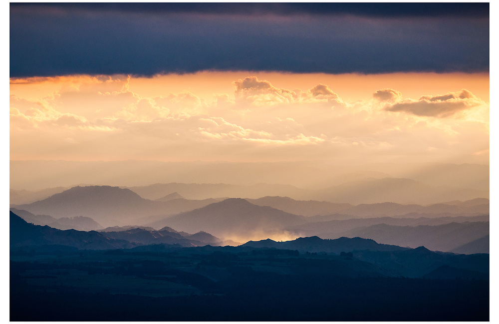 Looking west from Ruapehu Ski Field, Tongariro National Park.