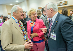 © Licensed to London News Pictures. 26/09/2014. Doncaster, UK Neil and Christine Hamilton.  The UKIP conference at Doncaster Racecourse Friday 26th September 2014. Photo credit : Stephen Simpson/LNP