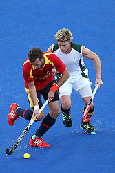 David Alegre of Spain during Pool MA Hockey  match between South Africa and Spain held at the Riverbank Arena in Olympic Park in London as part of the London 2012 Olympics on the 3rd August 2012..Photo by Ron Gaunt/SPORTZPICS