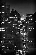 San Francisco Lombard Street, from Telegraph Hill, night