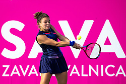 PORTOROZ, SLOVENIA - SEPTEMBER 17: Jasmine Paolini of Italy competes during the 3rd Round of WTA 250 Zavarovalnica Sava Portoroz at SRC Marina, on September 17, 2021 in Portoroz / Portorose, Slovenia. Photo by Matic Klansek Velej / Sportida