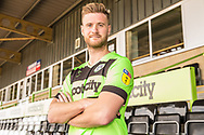 Matt Millls signs a contract with Forest Green Rovers at the New Lawn, Forest Green, United Kingdom on 30 May 2019.