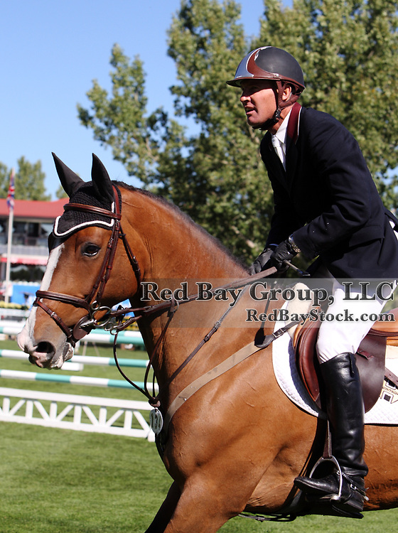 Rich Fellers and McGuinness at the 2009 Spruce Meadows Masters in Calgary, Alberta, Canada.