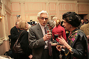 Charles Wheeler, Oldie of the Year Awards. Simpsons-in-the-Strand. London. 13 March 2007.  -DO NOT ARCHIVE-© Copyright Photograph by Dafydd Jones. 248 Clapham Rd. London SW9 0PZ. Tel 0207 820 0771. www.dafjones.com.