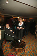 SIR PETER AND LADY CHRISSIE BLAKE, Sir Peter Blake and Poppy De Villeneuve host a party with University of the Arts London at the Arts Club, Dover Street, London. 20 APRIL 2006<br />ONE TIME USE ONLY - DO NOT ARCHIVE  © Copyright Photograph by Dafydd Jones 66 Stockwell Park Rd. London SW9 0DA Tel 020 7733 0108 www.dafjones.com