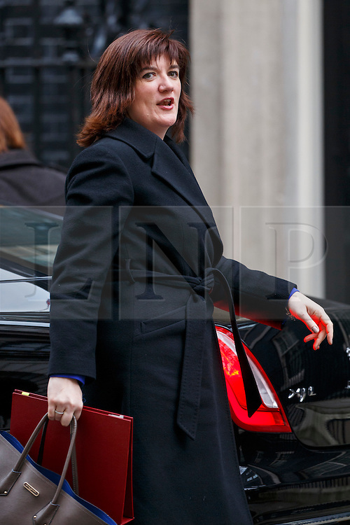 © Licensed to London News Pictures. 21/03/2016. London, UK. Education Secretary NICKY MORGAN arriving at Downing Street in London on Monday, 21 March 2016. Photo credit: Tolga Akmen/LNP