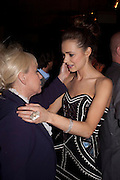 KARA TOINTON; BARBARA WINDSOR, The aftershow party for PYGMALION. National Gallery Gallery CafŽ, London.  May 25, 2011,<br /> <br /> <br /> <br />  , -DO NOT ARCHIVE  Copyright Photograph by Dafydd Jones. 248 Clapham Rd. London SW9 0PZ. Tel 0207 820 0771. www.dafjones.com.<br /> KARA TOINTON; BARBARA WINDSOR, The aftershow party for PYGMALION. National Gallery Gallery Café, London.  May 25, 2011,<br /> <br /> <br /> <br />  , -DO NOT ARCHIVE  Copyright Photograph by Dafydd Jones. 248 Clapham Rd. London SW9 0PZ. Tel 0207 820 0771. www.dafjones.com.