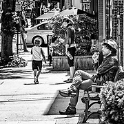 """I was going """"walkabout"""" in Tarrytown.  It was a warm sunny day.  I like the different characters in different positions, attitudes and activities."""