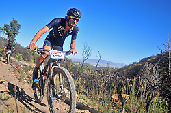 WELLINGTON SOUTH AFRICA - MARCH 23: Oliver Munnik during stage five's 39km time trial on March 23, 2018 in Wellington, South Africa. Mountain bikers gather from around the world to compete in the 2018 ABSA Cape Epic, racing 8 days and 658km across the Western Cape with an accumulated 13 530m of climbing ascent, often referred to as the 'untamed race' the Cape Epic is said to be the toughest mountain bike event in the world. (Photo by Dino Lloyd)