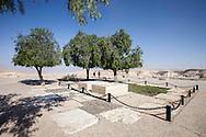 Midreshet  nelle vicinanze del kibbutz Sde Boker: Le tombe di Ben Gurion, accanto a sua moglie Paula Ben Gurion.