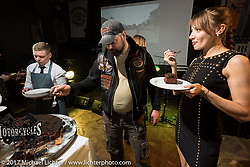 The Harley-Davidson Club Moscow hosted great party after the Custom and Tuning Show at a club in Moscow, Russia. Saturday April 22, 2017. Photography ©2017 Michael Lichter.