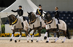 Van Grunsven Anky (NED) - IPS Salinero<br /> Werth Isabell (GER) - Satchmo<br /> Peters Steffen (USA) - Ravel<br /> Exquis World Dressage Masters - Wellington 2010<br /> © Hippo Foto - Cealy Tetly