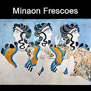 Images & Pictures of Minoan Fresco & Paintings Artefacts & Antiquities