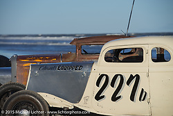 Josh Fredette's 1934Ford 5W Coupe from NH at the the Race of Gentlemen. Wildwood, NJ, USA. October 10, 2015.  Photography ©2015 Michael Lichter.