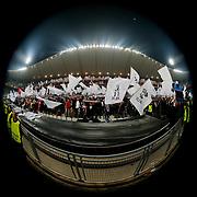 Besiktas's Supporters during the UEFA Europa League Round of 32 second leg soccer match Besiktas between Liverpool at Ataturk Olimpiyat stadium in Istanbul Turkey on Thursday February 26, 2015. Photo by Aykut AKICI/TURKPIX