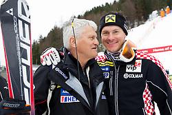 Ante Kostelic and his son Ivica Kostelic after winning the 10th Men's Slalom - Pokal Vitranc 2013 of FIS Alpine Ski World Cup 2012/2013, on March 10, 2013 in Vitranc, Kranjska Gora, Slovenia. (Photo By Vid Ponikvar / Sportida.com)