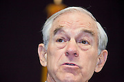 """Dec. 5, 2009 -- TEMPE, AZ: Rep. RON PAUL (R-TX) speaks at the Arizona Campaign for Liberty Convention in the Memorial Union building on the Arizona State University in Tempe, AZ, Saturday. Rep. Paul is in the Phoenix, AZ, area over the weekend making speeches and signing his book, """"End the Fed."""" Saturday morning he spoke at the first annual """"Arizona Campaign for Liberty Convention."""" Most of the attendees supported Rep. Paul during his run for the Republican nomination for US President in 2008.   Photo by Jack Kurtz"""