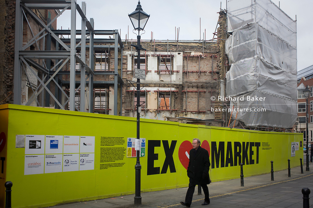 A new property development in Exmouth (Street) market, where a Passivhaus penthouse scheme is due to be built.