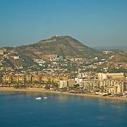 Aerial view of Medano beach. Cabo San Lucas, BCS. Mexico.