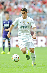 04.08.2015, Allianz Arena, Muenchen, GER, AUDI CUP, Real Madrid vs Tottenham Hotspur, im Bild James Rodriguez (Real Madrid) // during the 2015 Audi Cup Match between Real Madrid and Tottenham Hotspur at the Allianz Arena in Muenchen, Germany on 2015/08/04. EXPA Pictures © 2015, PhotoCredit: EXPA/ Eibner-Pressefoto/ Stuetzle<br /> <br /> *****ATTENTION - OUT of GER*****