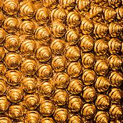 Detail of golden hair of huge Reclining Buddha statue (Bangkok, Thailand - Oct. 2008) (Image ID: 081012-1544333a)