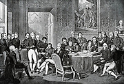 The Vienna Congress (1814-1815) that after the fall of Napoleon negotiated along came the Great Powers negotiated settlement on borders of states which Napoleon had brought such a great change, the decisions taken at this 'congress, for a considerable time in Europe the political verhoudindingen determined.