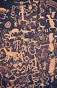 Petroglyphs on Newspaper Rock, Newspaper Rock State Park, Utah USA