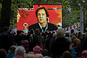Sir Paul McCartney performs at the Queen's Diamond Jubilee concert weeks before the Olympics come to London. The UK  enjoys a weekend and summer of patriotic fervour as their monarch celebrates 60 years on the throne. Across Britain, flags and Union Jack bunting adorn towns and villages.